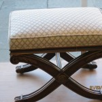 Nice Ottoman Reupholstered in Van Nuys by WM Design
