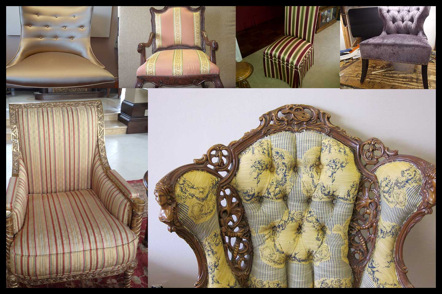 Chair upholstery services in Los Angeles California