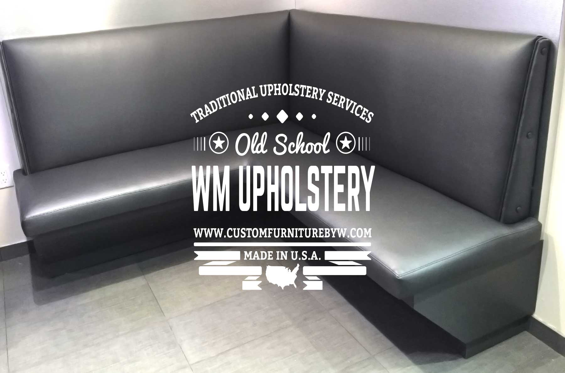 Commercial upholstery Marina del Rey California. Restaurant booth upholstery Marina del Rey CA