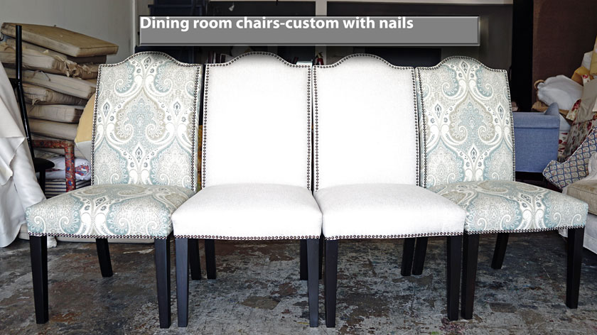 Club chairs upholstery van nuys custom dining