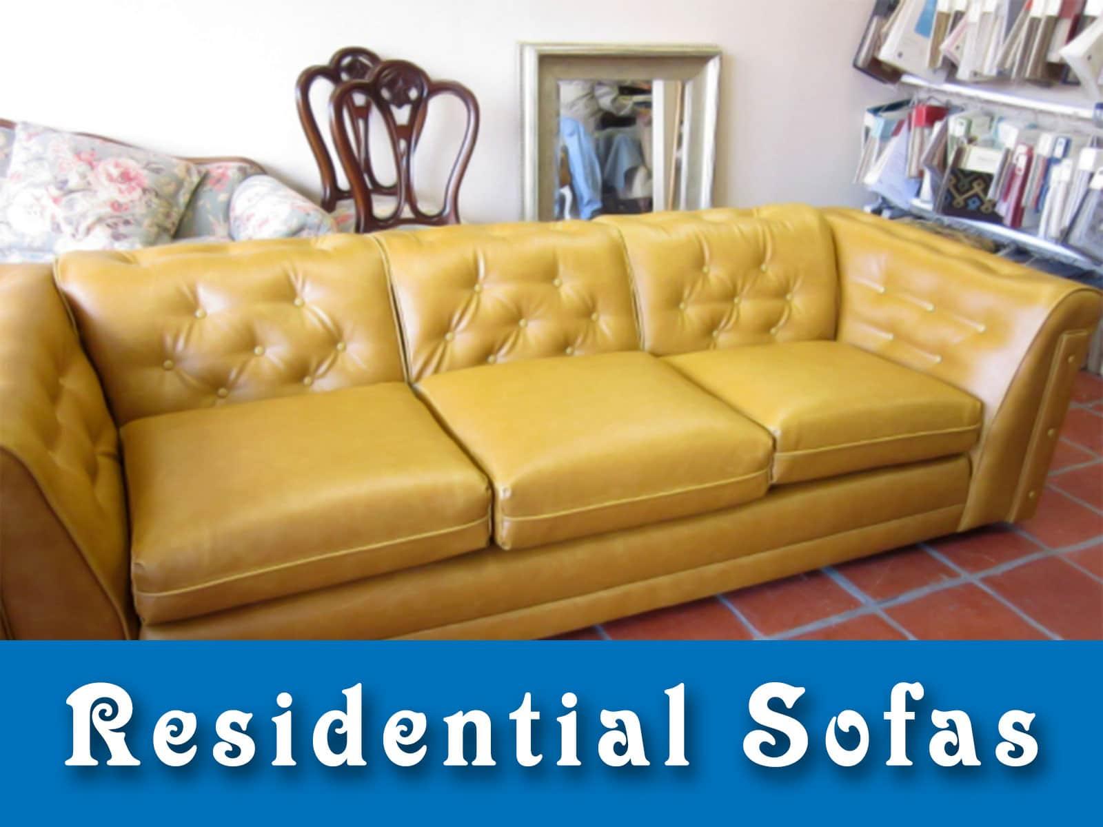 Residential Sofa Upholstered Vinyl Santa Monica California