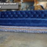 custom velvet sectionals sofa with bullion