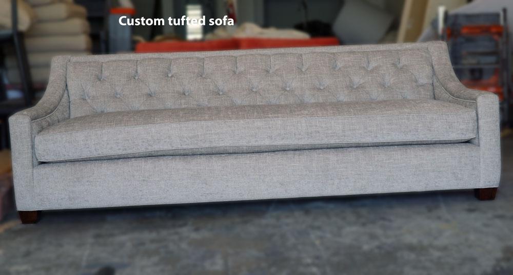 Custom - sofa -chenille fabrics