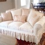 Sofa slipcover custom made in Sherman Oaks, Los Angeles and Van Nuys California