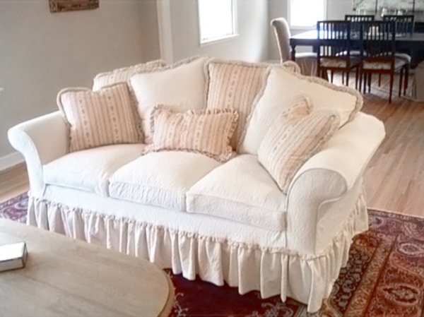 Custom made slipcovers for sofas free new solid elastic for Affordable home furniture in van nuys