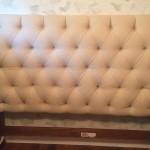 Tufted bed headboard in Van Nuys California
